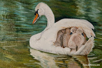 painting Mommy Swan