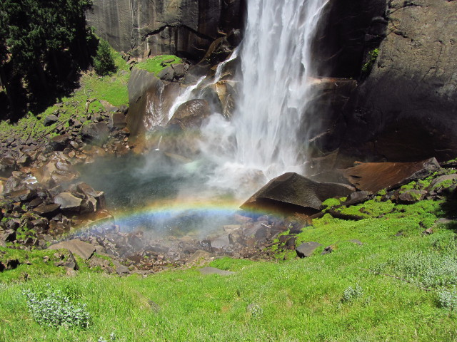 double rainbow at the bottom of Vernal Fall