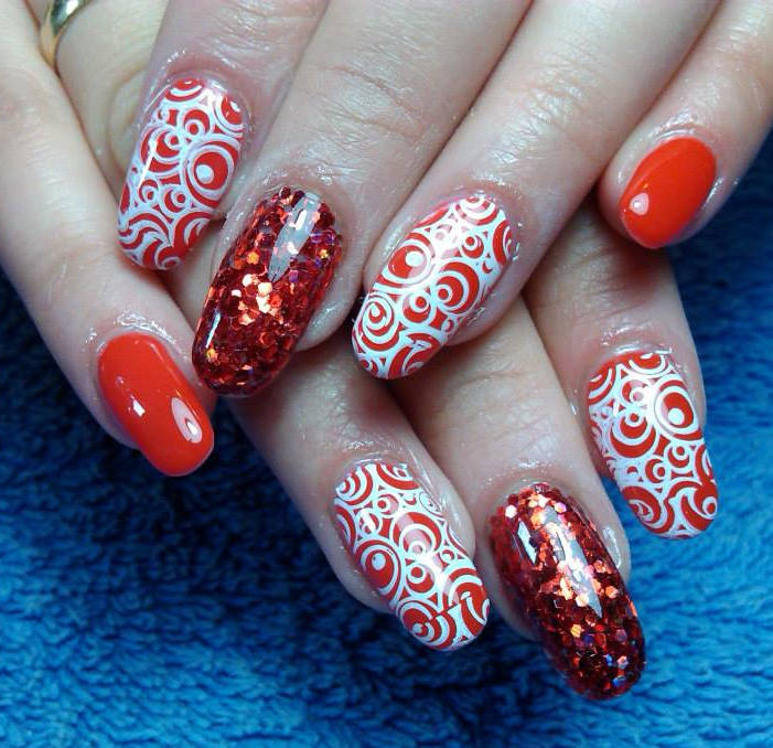 Nail design red white nail art design red and white red black nail design red white prinsesfo Images