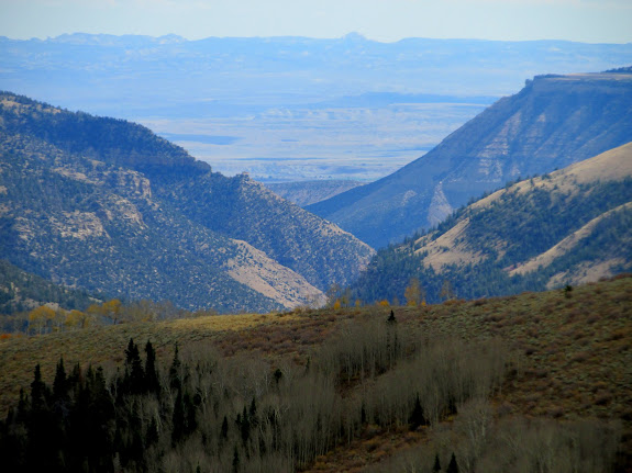 View down Cottonwood Canyon from Trail Mountain