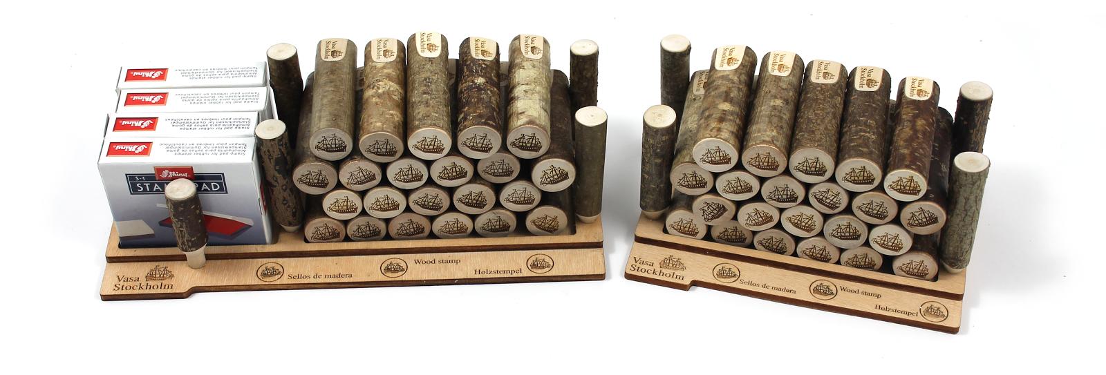 Wood Stamps, Sellos de madera, ecological sellos, öko holzstempel
