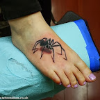 Spider tattoo in foot - Foot Tattoos Designs