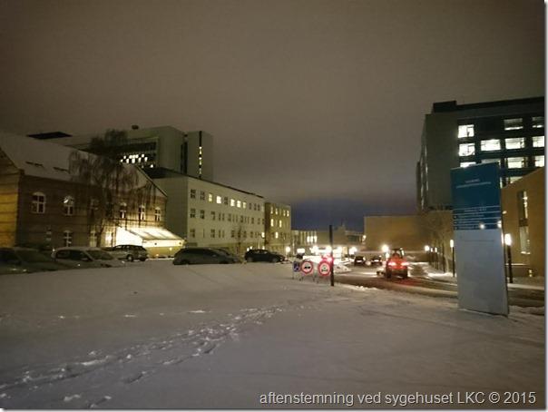 Sneklædt sygehus 140116