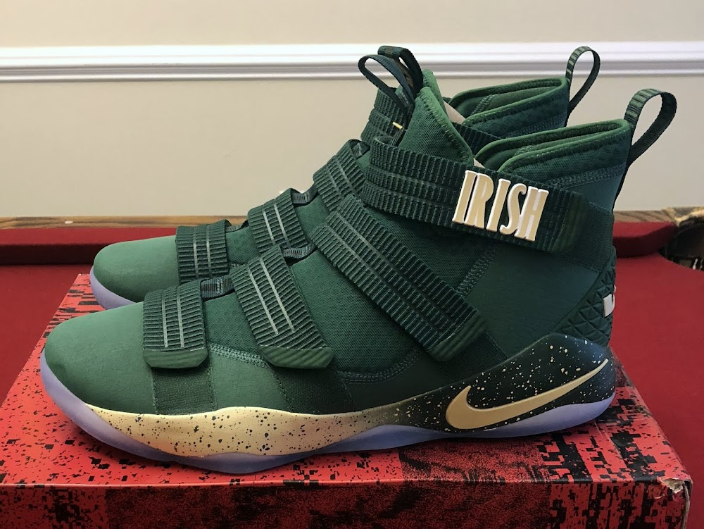 separation shoes 4c1de bee31 Nike LeBron Soldier 11 St Vincent St Mary PE Green ...