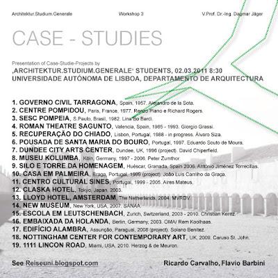 EAD | ASG 2011-02-28 WS3 Task 1 | Case Studies