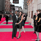 WWW.ENTSIMAGES.COM - Adrian Lester and Lolita Chakrabarti     at      The Olivier Awards at Royal Opera House, Covent Garden, London, April 28th 2013                                               Photo Mobis Photos/OIC 0203 174 1069