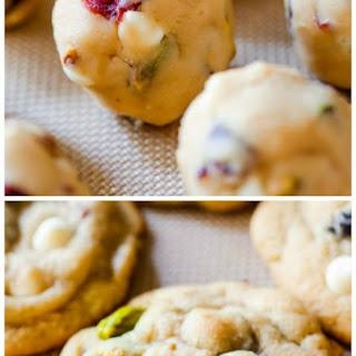 White Chocolate Cranberry Pistachio Cookies.