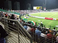 An India versus Pakistan match at the Sheikh Zayed Cricket Stadium in Abu Dhabi