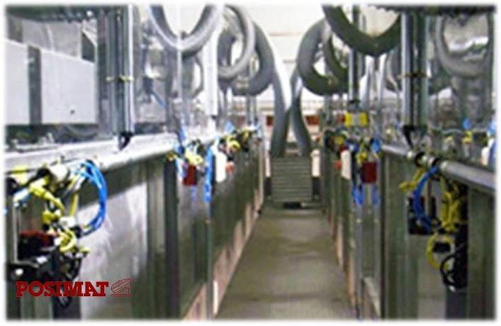 Posimat silos menggunakan Pressurization dengan filter udara
