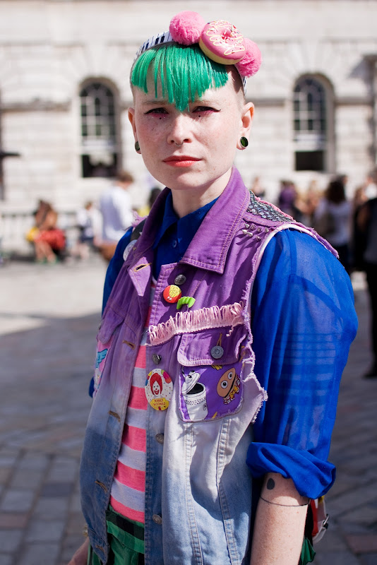 Holly Rivers at London Fashion Week