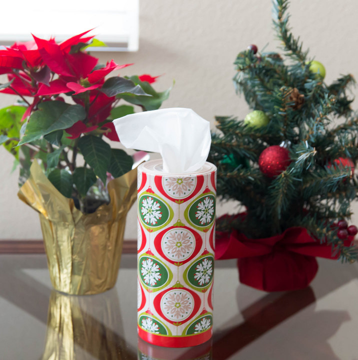 photo of holiday kleenex