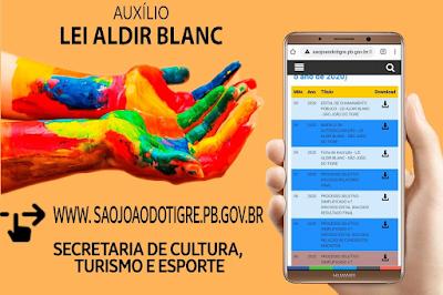 Artistas de São João do Tigre podem ser beneficiados com o auxílio da LEI ALDIR BLANC