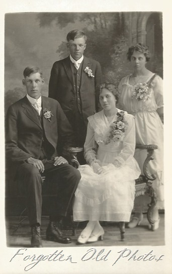 Wedding group AZo up and down Postcard Crosby Antiques 1918 to 1930