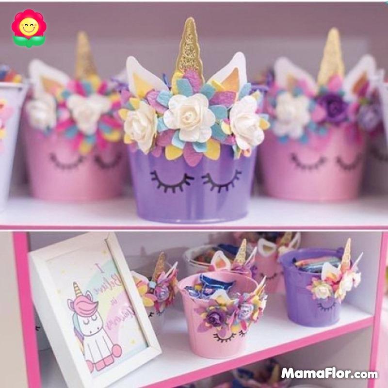 centros de mesa unicornios fiesta 4