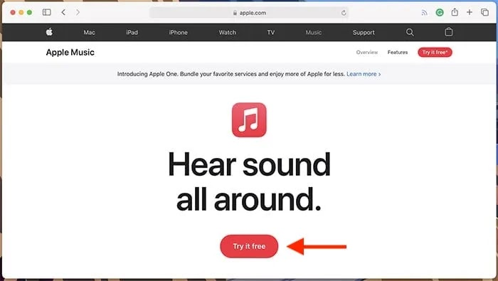 موقع Apple Music على موقع Apple