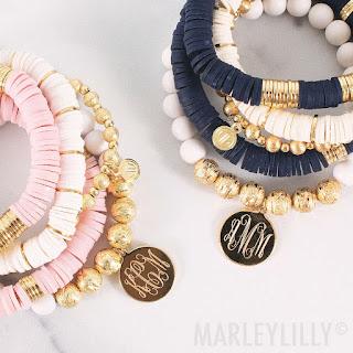 Monogrammed Nantucket Bracelet Set
