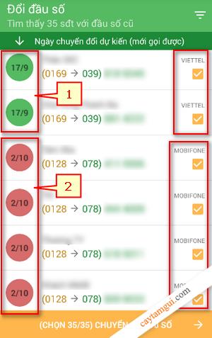 Hướng dẫn chuyển đầu số từ 11 sang 10 số tự động trong Danh bạ