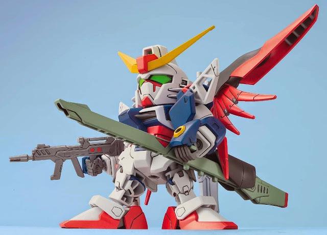 Destiny Gundam BB Senshi 290 SD dễ dàng lắp ráp và mang theo trong giỏ