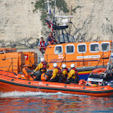 Poole's B class Atlantic 85 and Tyne class lifeboats on exercise in Poole Bay Sunday 14 July 2013 Photo: RNLI Poole/Dave Riley