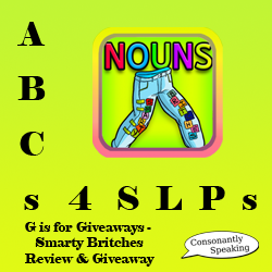 ABCs 4 SLPs: G is for Giveaways - Smarty Britches Review and Giveaway image