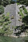伊賀上野城:堀の周囲からの高石垣