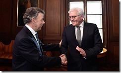 Este viernes el Presidente Juan Manuel Santos recibió al Ministro de Relaciones Exteriores de Alemania Federal, Franz-Walter  Steinmeier, quien reiteró el apoyo de su país al proceso de paz.
