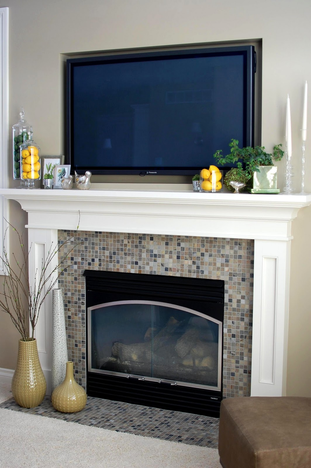 Remodelaholic Beautiful Spring Inspired Mantle By 33
