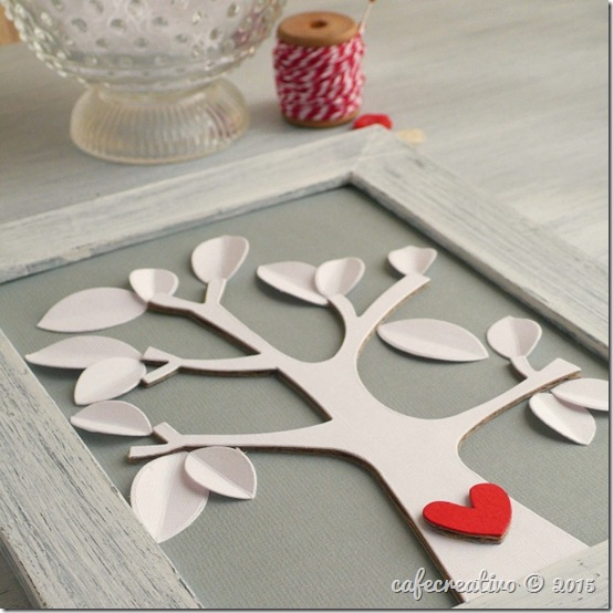 cafe creativo - sizzix big shot plus - fustelle - home decor - cornice shabby chic