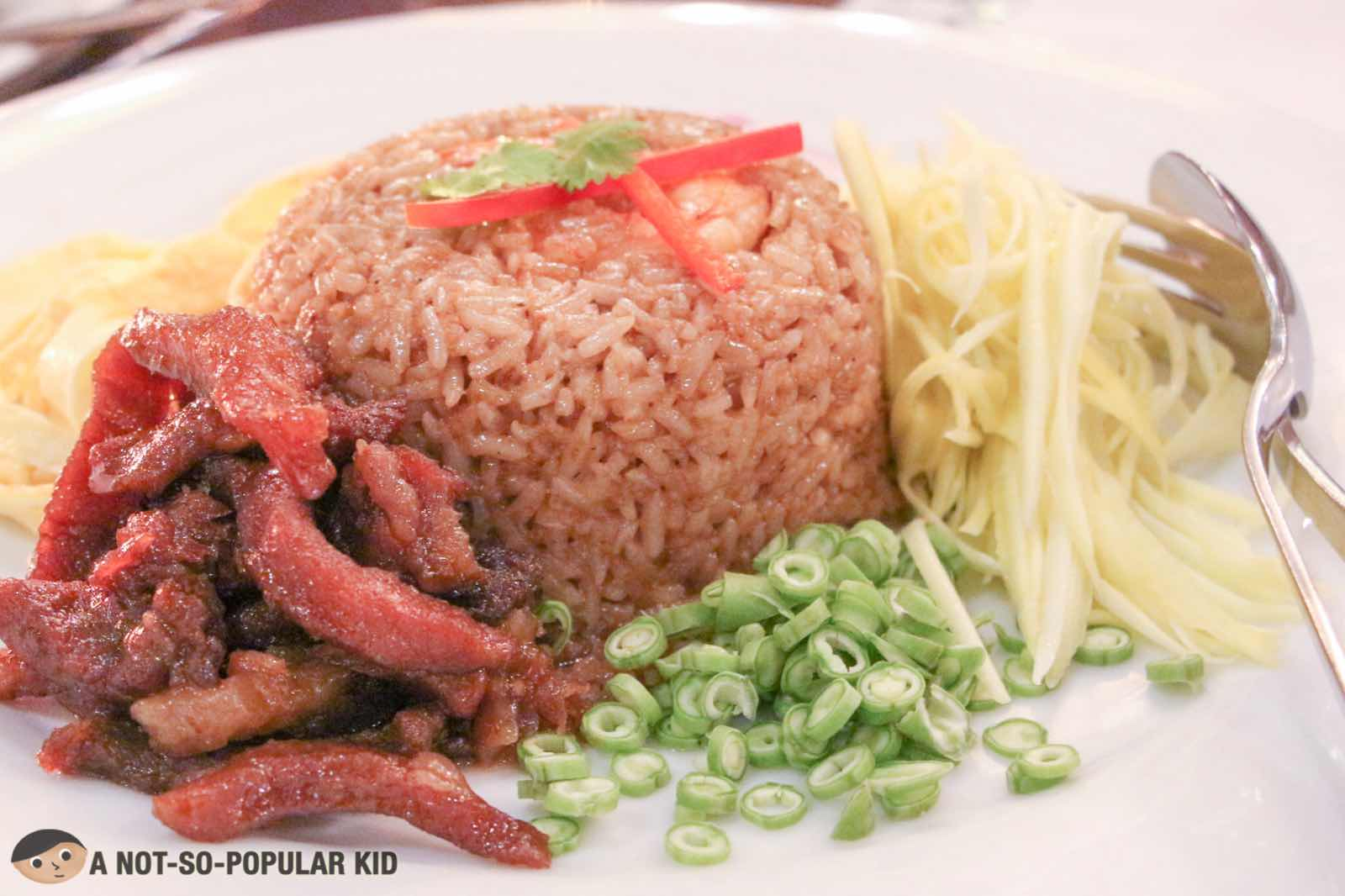 Thai Bagoong Fried Rice of Azuthai Fine Dining