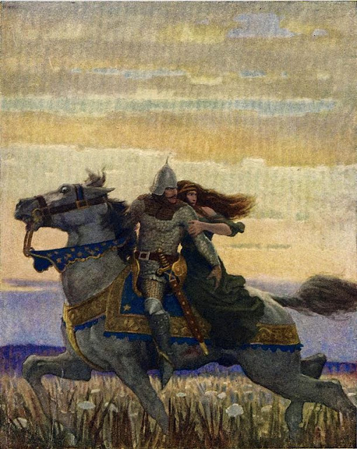 N. C. Wyeth - Launcelot and Guenevere, 1922