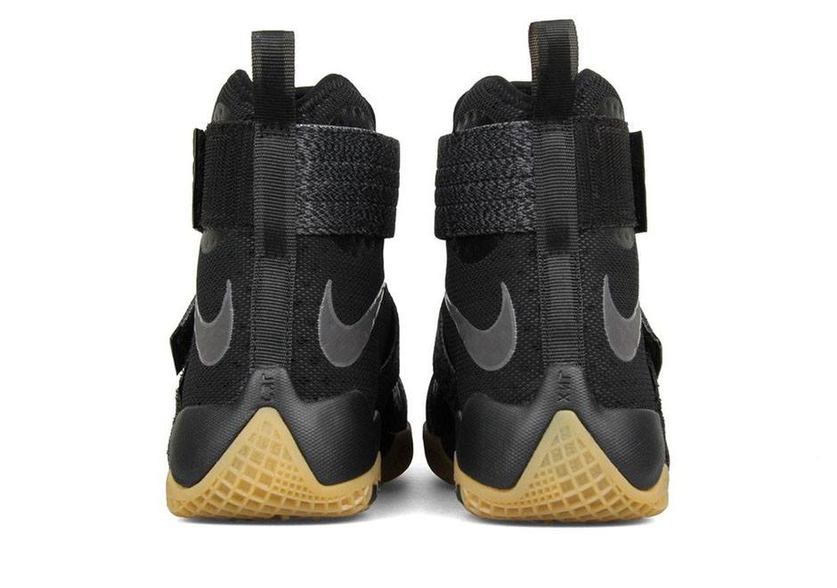 237dd96b2591 Available Now  Nike LeBron Soldier 10 Black   Gum
