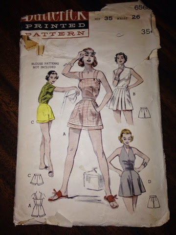 Butterick 6568 Sunsuit and Three Styles of Shorts