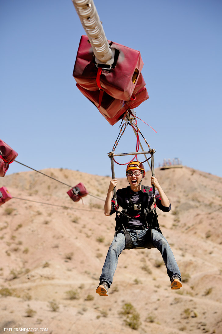 5 Las Vegas Outdoor Activities - Zipline Boulder City.