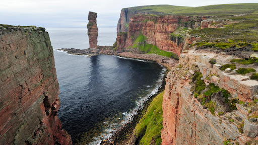 The Old Man of Hoy, Sandstone Sea Stack, Scotland.jpg