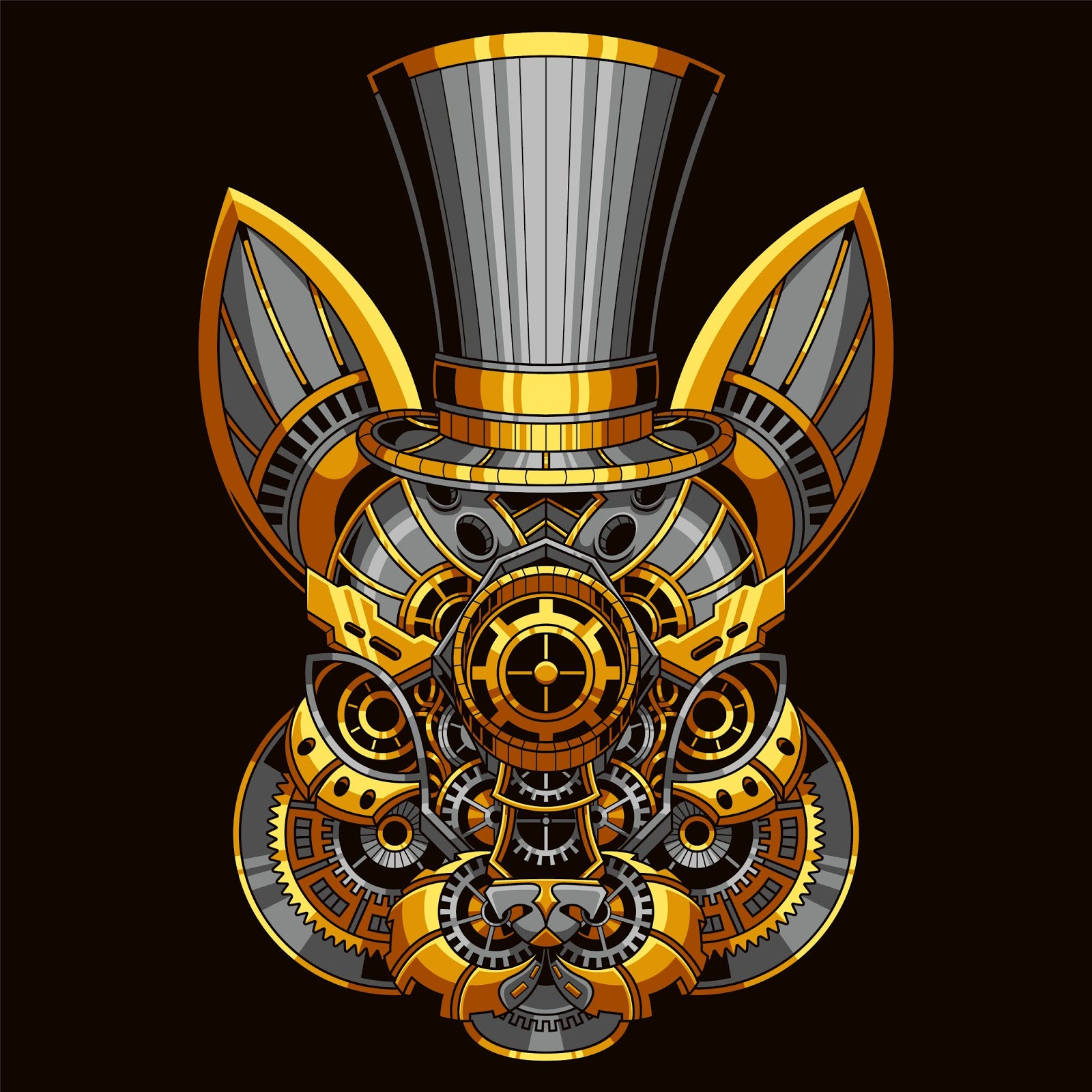 Rabbit Steampunk Illustration	 Free Download Vector CDR, AI, EPS and PNG Formats