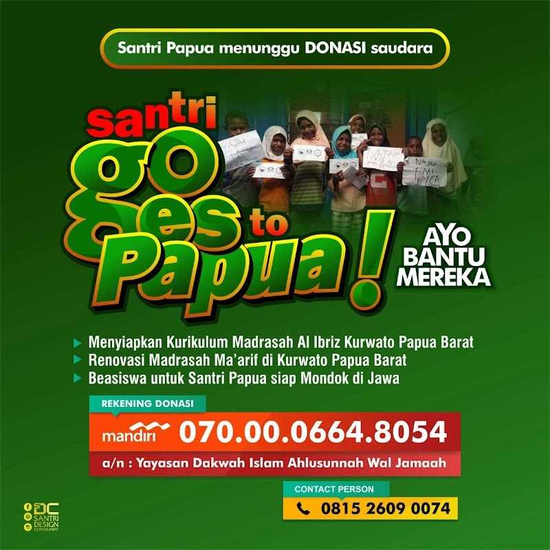 Yuk Dukung Program Santri Goes to Papua