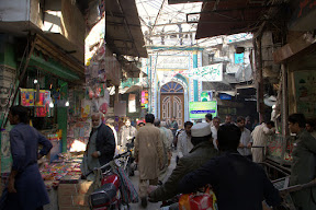 A view of the Mosque from Mochi Gate Bazaar