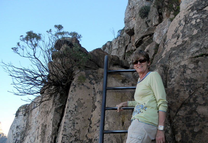 Climbing the steep parts of Lions Head