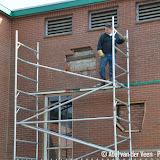 Tegeltableaus 7-Sprong in muur Siepco geplaatst - Foto's Abel van der Veen