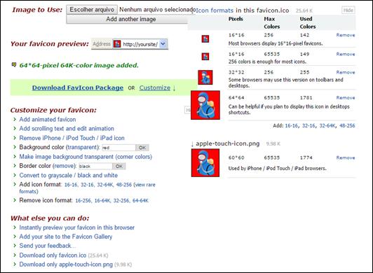 Como criar favicon (.ico) estático ou animado para colocar no seu blog ou site - Visual Dicas