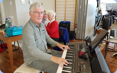 Our President, Gordon Sutherland, playing his Korg Pa4X.
