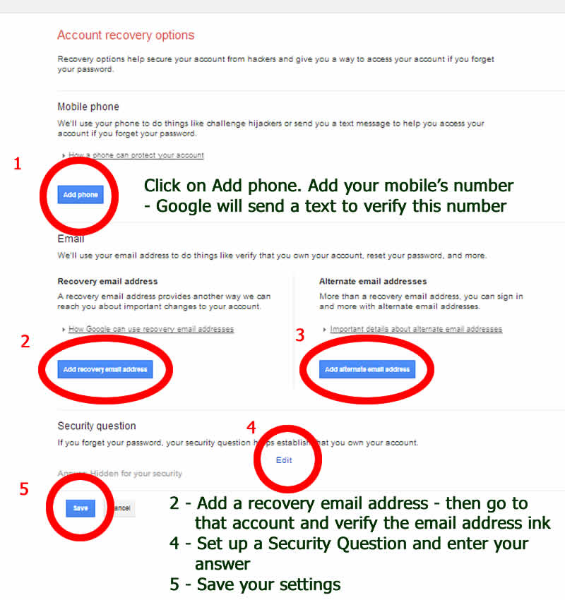phone and email for restoring Google Gmail email accounts - with www.dorsetdog.com