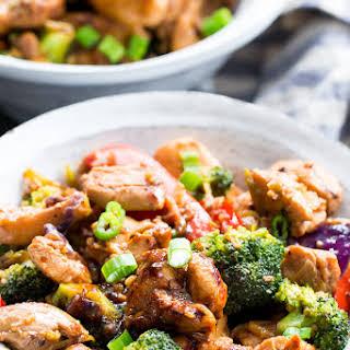 Chicken Stir Fry with Veggies and Garlic Sauce {Paleo, Whole30}.