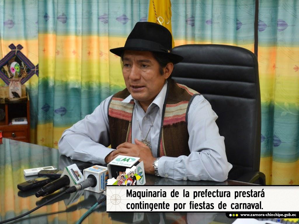 MAQUINARIA DE LA PREFECTURA PRESTARÁ CONTINGENTE POR FIESTAS DE CARNAVAL.