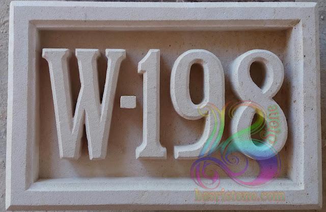 Ornamen Nomor rumah batu alam paras jogja