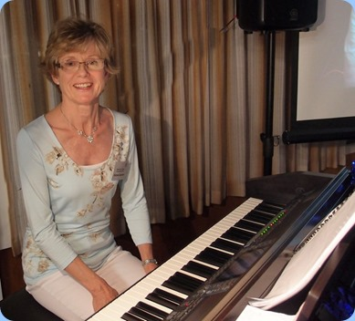 Professional musician, and distinguished member of the Club, Denise Gunson played a great selection of songs for us on the Clavinova. What a wonderful touch and such great custom arrangements! Photo courtesy of Dennis Lyons.