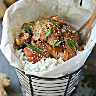 Pineapple Shoyu Chicken with Coconut Jasmine Rice.