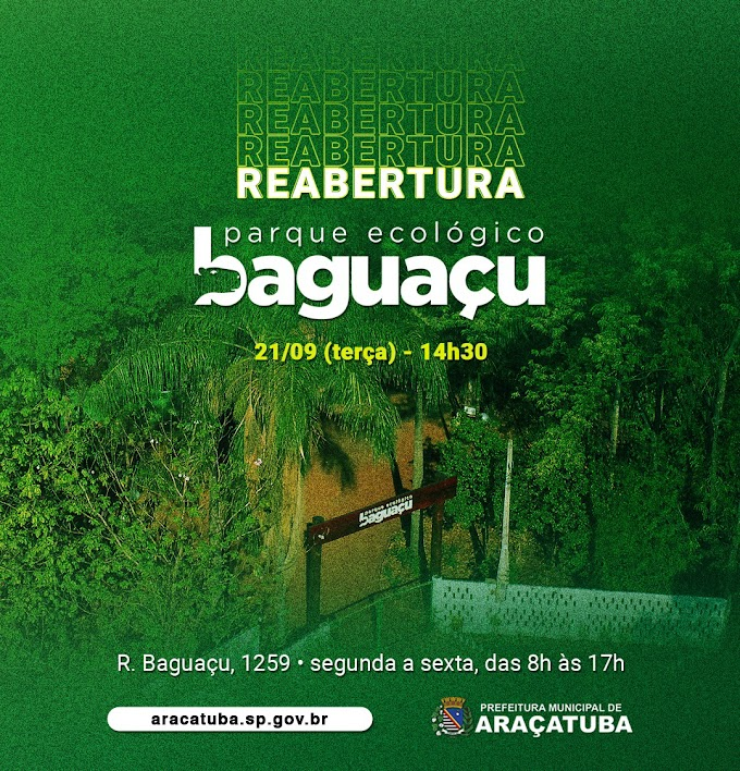 Araçatuba anuncia reabertura do PEBA no dia da árvore
