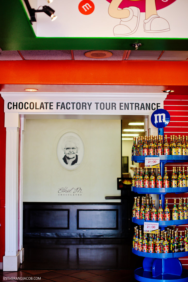 M&M World Las Vegas and the entrance to the Ethel M Chocolate Factory Tour.
