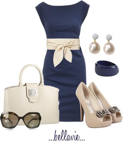 Outfit de vestido con corte imperio